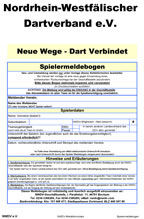 NWDV Spielermeldeformular