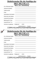 Stadtliga Nachmeldeformular